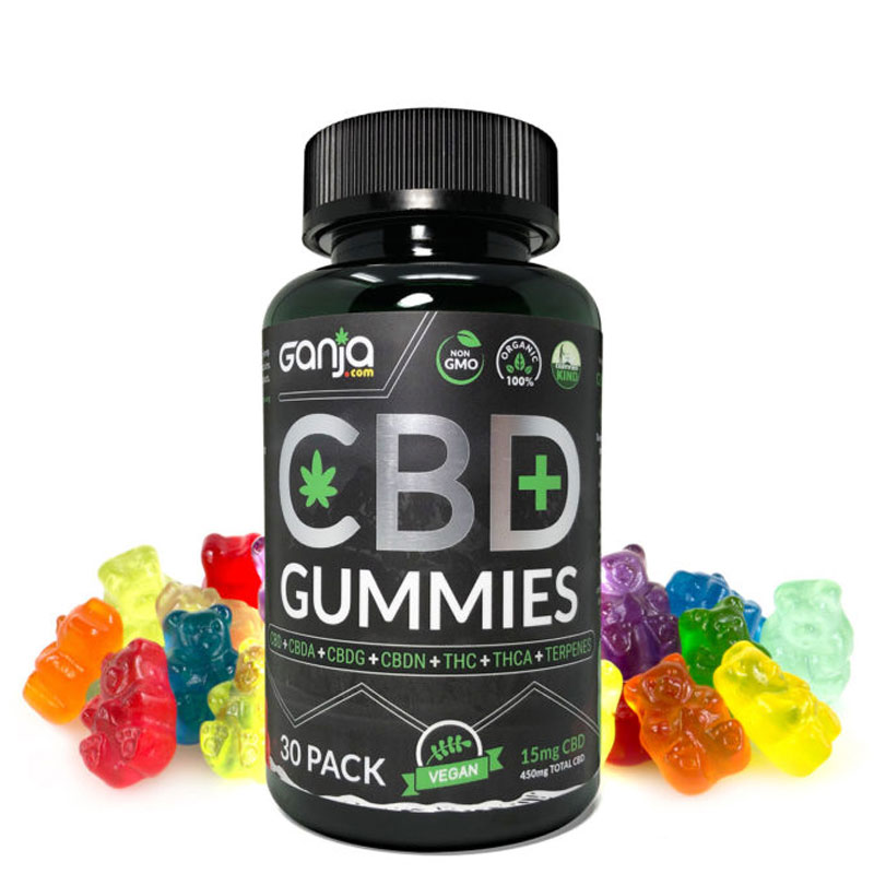 CBD Gummies (30-Pack) 15mg Gummy Bears – CBD.ganja.com